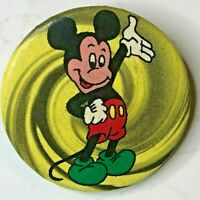 Vintage Disney Mickey Mouse Tin pin Badge 30 mm 1960's