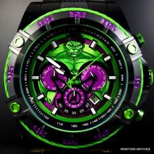 Invicta Marvel Hulk Speedway Viper Chronograph Black Steel 52mm Watch New