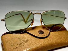 New listing Mint Ray-Ban Usa Vintage B&L 1/10 12k Gf Aviator Rb3 Sunglasses Bausch Lomb 52mm
