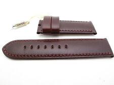 Panerai Burgundy 26mm Calfskin Leather Strap Regular 125mm/75mm 100% AUTHENTIC