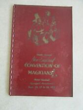 1941 Ninth Annual New England Convention Of Magicians Hotel Kimball Program