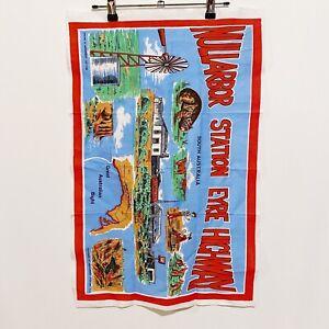Nullarbor Station Eyre Highway Australia Vintage 90's Tea Towel