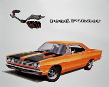1969 Plymouth Road Runner, Refrigerator Magnet, 40 mil thick