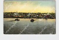 PPC POSTCARD VIEW OF DAVENPORT IOWA RIVER BOATS ON WATER
