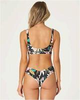 Billabong Women's Fiji Bikini Bottom, Black Pebble, S, Black Pebble, Size Small