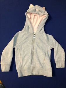 French Terry Cat Hoodie by OshKosh Toddler Girls size 2T
