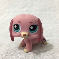 Littlest Pet Shop (LPS) #1306 Pink Dachshund Dog With Blue Eyes - Hasbro 2006