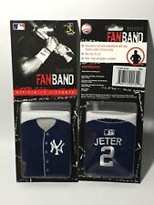 DEREK JETER Jersey FanBand WRIST ARM SWEAT BAND NY Yankees 2-Sided EMBROIDERED