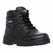 76565 Skechers Women's Work Relaxed Fit Workshire Lace Up Boot Black