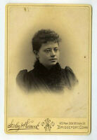 Cabinet Card Photo lady  Bridgeport CT