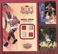 Michael Jordan 4 PIECE GAME USED JERSEY CARD 2016-17 UD SUPREME HARDCOURT RELICS