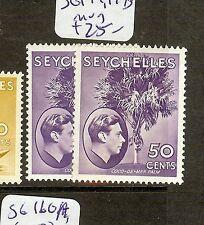 SEYCHELLES (B1201) KGVI  50C TREE  SG144, 144B  MOG