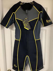 Kutting Weight Neoprene Weight Loss One-Piece Men's Sauna Suit Medium New!