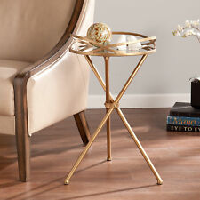 SEI Leslie Metal Mirrored Accent Table OC1508