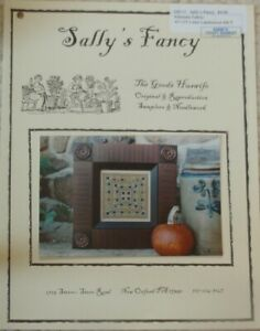 SALLY'S FANCY Sampler - Cross Stitch Chart