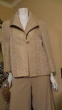 *NEW* ST. JOHN BEAUTY *BEIGE BROWN* ¾ Sleeve Jacket Blazer Sz 6 or 8 Rt $895.