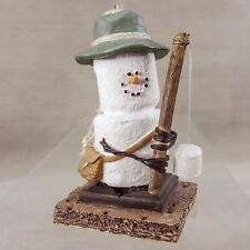 "Smores Ornament Fishing Fisherman w/ Pole 3"" Figurine Canon Falls Marshmallow"