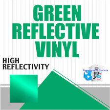 Reflective Sign Vinyl Adhesive Safety Plotter Cutter 12x10 Feet Green