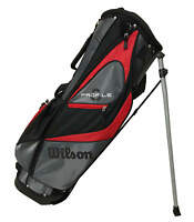 Wilson Profile Golf Stand Bag Black/Gray/Red 7-Way Top Lightweight New