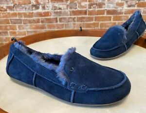 Vionic Navy Blue Suede Corinne Indoor Outdoor Orthodic Slipper Loafer 6 New
