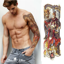 Manga de Tatuaje Temporal-Sun Wukong, Monkey King, mono, Para Hombre, Para Mujer