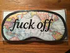 Novelty F*CK OFF  World Map Eyemask   Rude Gift Hen Stag