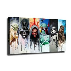 "12""x22""Star Wars Figure HD Canvas prints Painting Home Room Decor Wall art"