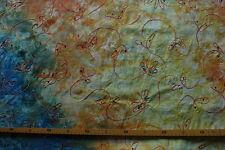 Baumwollstoff (€19/m²) 0,5 m Batik bestickt mit Pailetten 1,45m breit