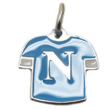 Ciondolo in argento 925 maglia napoli calcio smaltata