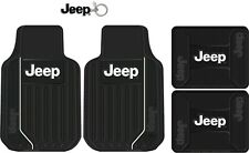 Car Suv Truck Black Front Rear All Weather Rubber Floor Mats Keychain for Jeep