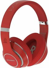 Massive Audio Red Bluetooth Flex Extreme Bass Beats Headphones High End New