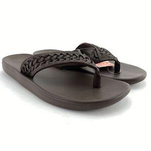 Nike Men's Kepa Kai Thong 2 Lea Baroque Brown Velvet Brown Flip Flop Sandals