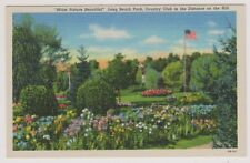 USA postcard - Long Beach Park, Country Club in the Distance on the Hill, Mich