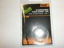 Fox Bordes Fluorocarbono Fusionado Líder 13.6kg Todas las Variedades Carpa Pesca