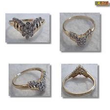 Diamant Ring Damenring mit Diamanten 585er Gold 14K Gelbgold