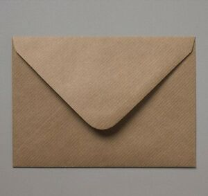 C5 / A5 162x229mm Brown Ribbed Kraft Envelopes 100gsm Free UK P&P Wedding Invite
