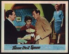 THREE ON SPREE (VeryFine) Lobby Card Set of 8 1961 English Comedy 15169