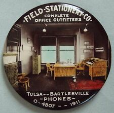 GRAPHIC OAK OFFICE FURNITURE ADVERTISING POCKET MIRROR