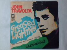 "JOHN TRAVOLTA Greased lightnin' 7"" ITALY COLONNA SONORA GREASE UNIQUE PS"