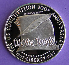 1987 Constitution Proof Silver Dollar Commemorative US Mint Coin ONLY