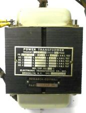 ELECTRONIC TRANSFORMER CO RESEARCH COTTRELL TRANSFORMER 25348-DI, 230/460V .5KVA