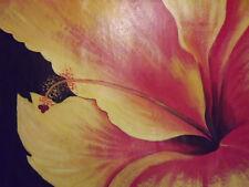 Pintura al óleo abstracta Orange Flores enorme Lienzo Arte Moderno Contemporáneo Floral