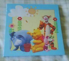 Disney Winnie The Pooh Blue Wall Art Canvas Picture ~ Nursery/Bedroom/Playroom