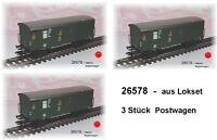 Aus Märklin 26578 nur DREI Güterzug-Gepäckwagen Pwgs 41 der DB #NEU#