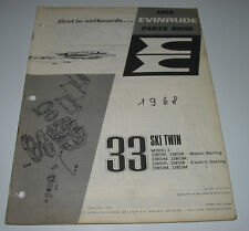 Parts Book Evinrude 33 Ski Twin Ersatzteilkatalog ET Katalog Stand 1968!