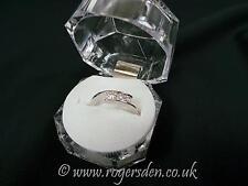 Ladies Dress Ring  Silver Cubic Zirconia Stone Set Ladies Ring  Size L