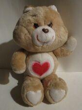 """Carebear Tenderheart Bear 13"""" Plush Stuffed Animal 1983"""
