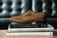 Handmade Men's Genuine Brown Suede Classic Dress Lace Up Formal Shoes