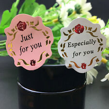 20 Sheets Rose Flower  'Especially for you'  ' just for you ' Sticker Labels