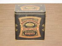 "VINTAGE KITCHEN ENGLAND 5 1/4"" BARRINGER & BROWN'S MANSFIELD MUSTARD TIN *EMPTY*"